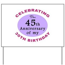 Funny 75th Birthday Gag Yard Sign
