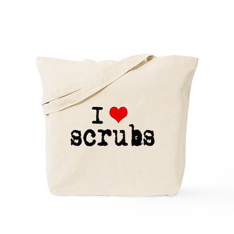 'I Love Scrubs' Tote Bag