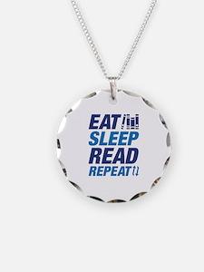 Eat Sleep Read Repeat Necklace