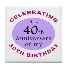 Funny 70th Birthday Gag Tile Coaster