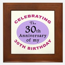 Funny 60th Birthday Gag Framed Tile