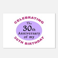 Funny 60th Birthday Gag Postcards (Package of 8)