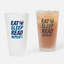 Eat Sleep Read Repeat Drinking Glass
