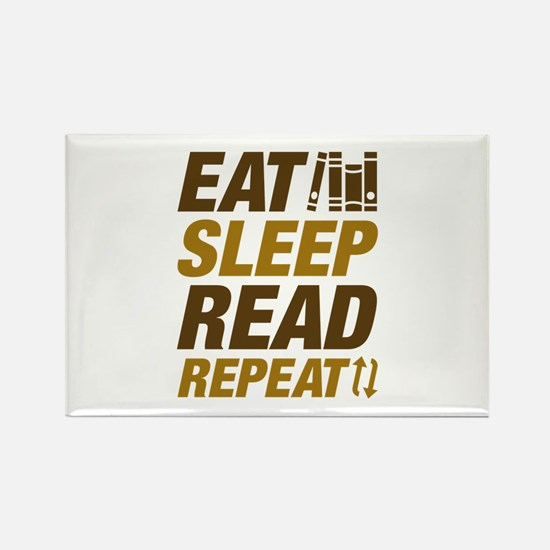 Eat Sleep Read Repeat Rectangle Magnet