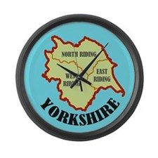 Yorkshire Map Large Wall Clock
