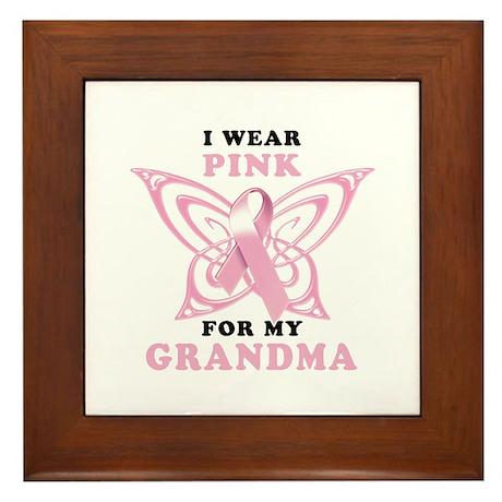 I Wear Pink for my Grandma Framed Tile