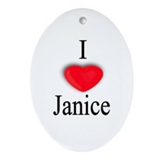 Janice Oval Ornament