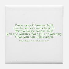 Yeats Faery Quote Tile Coaster