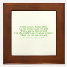 Yeats Faery Quote Framed Tile