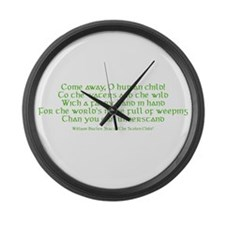 Yeats Faery Quote Large Wall Clock