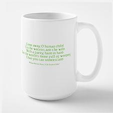 Yeats Faery Quote Large Mug