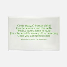 Yeats Faery Quote Rectangle Magnet