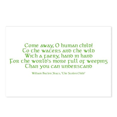 Yeats Faery Quote Postcards (Package of 8)