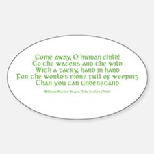 Yeats Faery Quote Decal