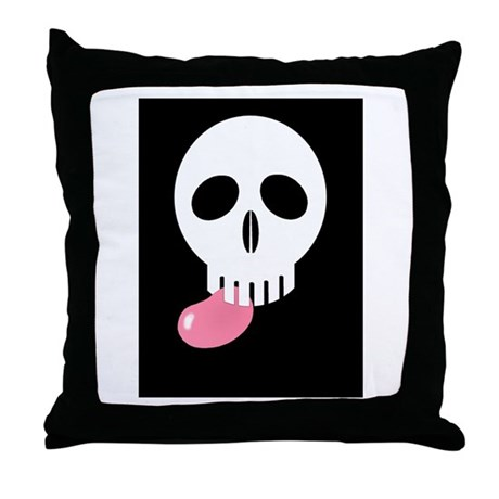 easterskull_jellybean_ Throw Pillow