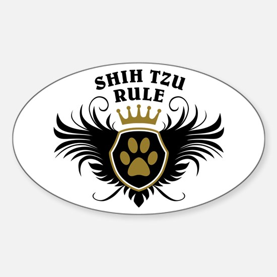 Shih Tzu Rule Sticker (Oval)