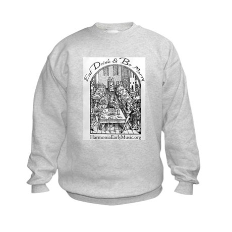 Eat Drink Be Merry 2 Kids Sweatshirt
