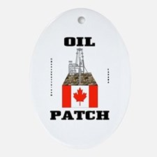 Canada Oil Patch Ornament (Oval)Oil,Gas,Rig