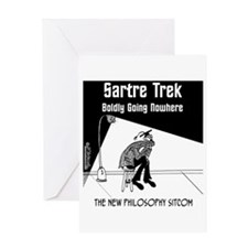 Sartre Trek Greeting Card