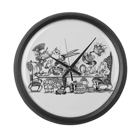 Alice's Unbirthday Party Large Wall Clock