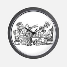 Alice's Unbirthday Party Wall Clock