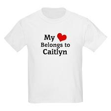 My Heart: Caitlyn Kids T-Shirt