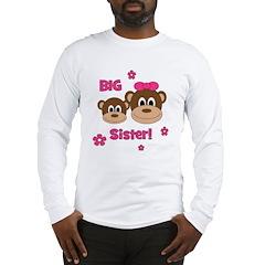 I'm The BIG Sister - Monkey Long Sleeve T-Shirt