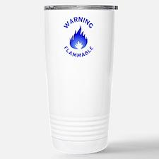Flammable Warning (blue Stainless Steel Travel Mug