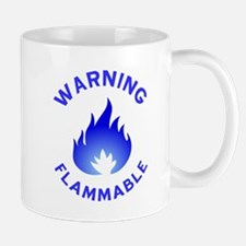 Flammable Warning (blue) Mug