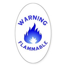 Flammable Warning (blue) Decal