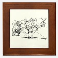 Don Quixote Framed Tile