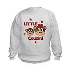 I'm The Little Cousin! Monkey Kids Sweatshirt