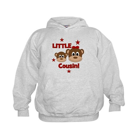I'm The Little Cousin! Monkey Kids Hoodie