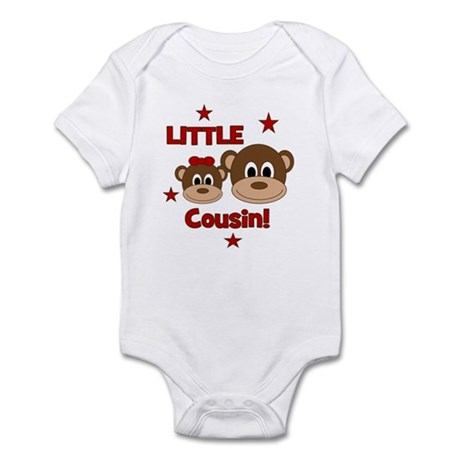 I'm The Little Cousin! Monkey Infant Bodysuit