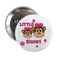 """I'm The Little Sister! Monkey 2.25"""" Button"""