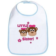 I'm The Little Sister! Monkey Bib