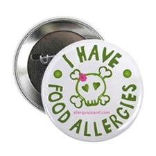 """I Have Food Allergies 2.25"""" Button"""