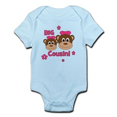 I'm The Big Cousin! Monkey Infant Bodysuit