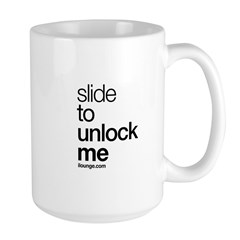 Slide to Unlock Me Large Mug