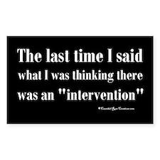 Intervention Decal