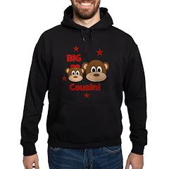 I'm The Big Cousin! Monkey Hoodie (dark)