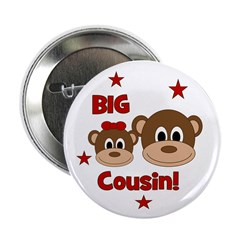 "I'm The Big Cousin! Monkey 2.25"" Button"