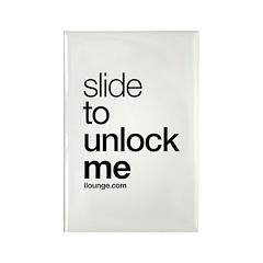 Slide to Unlock Me Rectangle Magnet