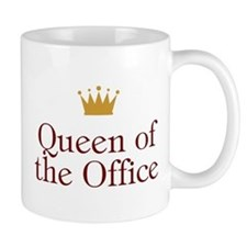 Queen Of The Office Small Mugs