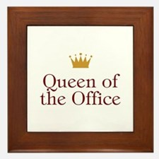 Queen Of The Office Framed Tile