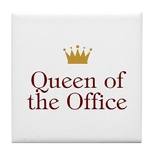 Queen Of The Office Tile Coaster