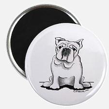 White Bulldog Lover Magnet
