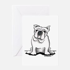White Bulldog Lover Greeting Card
