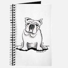 White Bulldog Lover Journal