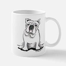 White Bulldog Lover Mug